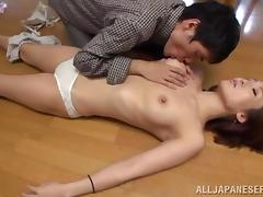 Miina Ichinose lets some kinky dude play with her sweet tits