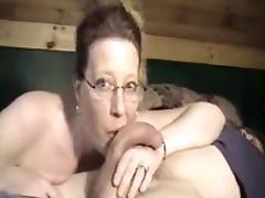 Wild mature wife sucking the cock