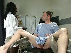 Ebony tranny Chanel Couture finds a warm place for her BBC