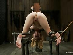 Extreme Bondage and Rough Fucking for Blonde Isis Love