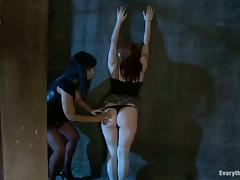 Redhead girl get dominated and ass fucked by her Masters