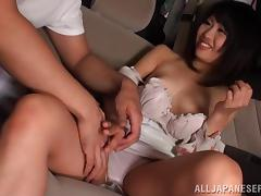 Lovely Yuuha Sakai takes her dress off and gets fucked in a car