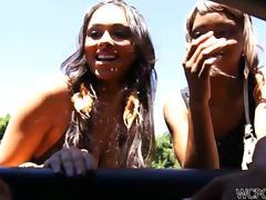 Sensual Ebony Bethany Benz in Leopard Lingerie Fucks a White Cock