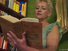 A nasty knob loving grandma finds herself a stud