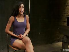 Hot Brunette Skin Diamond Gets Clothespin Torture in Bondage Vid tube porn video