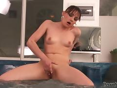 Hajni B and Moni fist each other's pussies in the bathroom