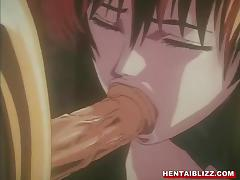 Anime, Anime, Cumshot, Facial, Hentai, Chained
