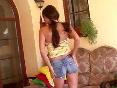 That is how this busty teen entertains herself