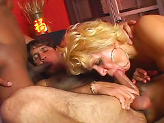 Bedroom, Bedroom, Bisexual, Blonde, Blowjob, Condom