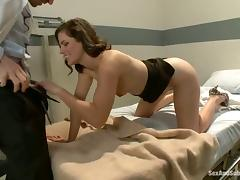 Ravishing chick Bobbi Starr enjoys terrific DP in a hot BDSM clip