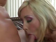 Stunning blonde pleases peter north tube porn video