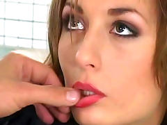 Cutie with sexy body being drilled by two dicks