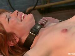 Submissive Claire Robbins gets toyed and fucked by a guy in mask porn tube video