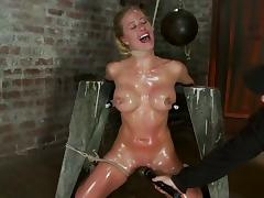 Bondage, BDSM, Bondage, Nipples, Oil, Nipple Clamp