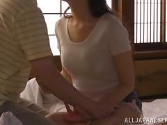 Hot Japanese woman has passionate sex with her man