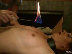 Blonde slave Dylan Ryan gets tortured and fucked by a group of people