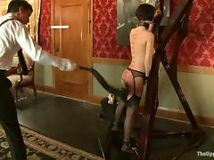Cherry Torn gets whipped and humiliated by her master