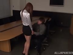 Japanese cutie gets her face dicked after pussy plays