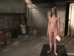 Kristine gets chained, blindfolded and mouth-fucked in BDSM scene tube porn video