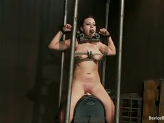 Torturing Angelica Raven with Mouse Trap and BDSM Devices