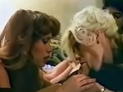 2 MILFs in retro threeway scene