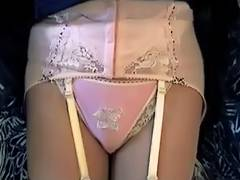 Pink Girdle Nylon Pants tube porn video