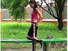 dark boots in public