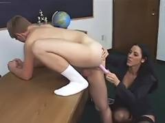 This Babe toying him
