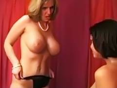 Aged British mother I'd like to fuck seduces younger floozy tube porn video