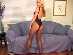 Leotard Darksome Hose Tease Bunny tube porn video