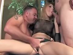Mother, Anal, Blonde, Group, MILF, Threesome