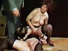 Mature blonde slave girl strips to be dominated