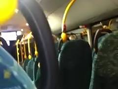 Foot and cook jerking in public bus