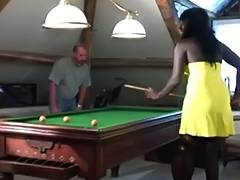 Interracial Ebony bitch fucked by 2 horny white guys