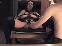 Fastened fisted and drilled tube porn video