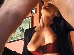 slutty housewife double drilled by 2 inflexible jocks
