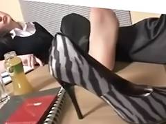 Nylon Boss Feet Worship