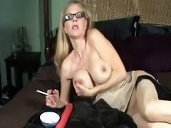 Candy Smokes and Fingers Her Snatch