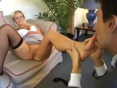 Fuckings her booty and stockings