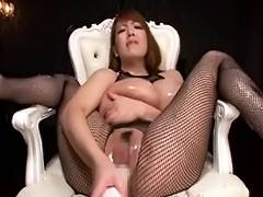 Hitomi Tanaka Oiled Up Scene three tube porn video