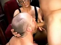 Hubby and Wife with a stranger Male Male Female Trio tube porn video