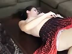 Cutie with hairy armpits shows off tube porn video