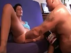 Dilettante snatch bottle and fist tube porn video