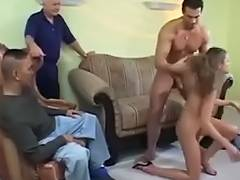 Husband, Blonde, Blowjob, Drilled, Husband, Wife