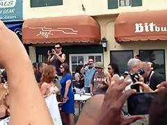 Go Topless Day March on Venice Beach Walk 2013 3