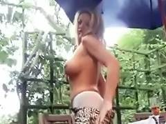 British bitch Taylor playing with herself outdoors