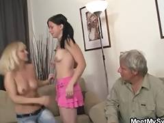 Daddy, Girlfriend, Lesbian, Riding, Old and Young, Dad