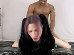 Goth lady boy takes bbc porn tube video