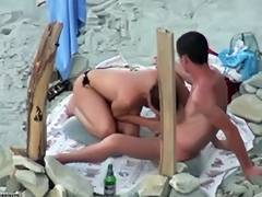 Beach oral from hidden camera