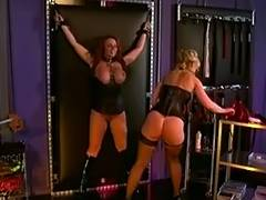 Nina Hartley and a large milk sacks redhead into servitude and S M tube porn video